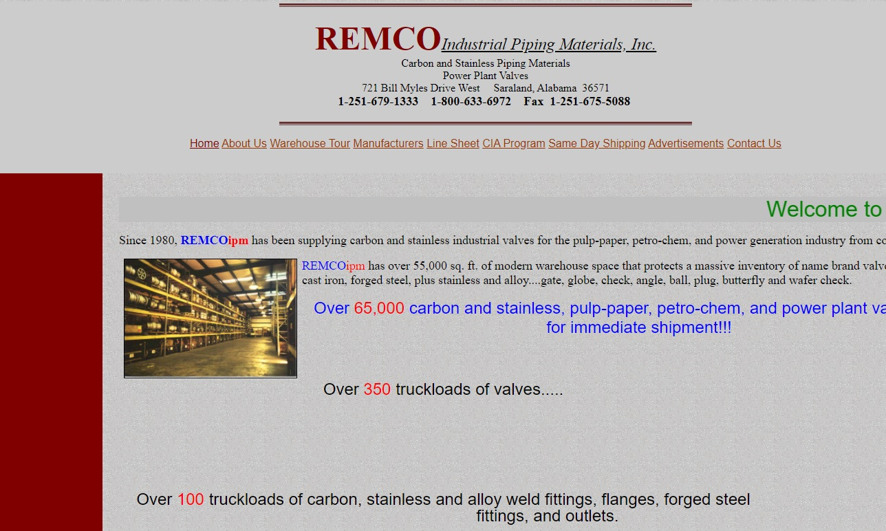 Remco Industrial Piping Materials, Inc.